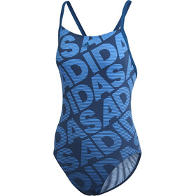adidas Allover Print Costume da bagno intero Donna, legend marine